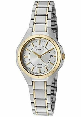 Seiko Women's SXDE14 Dress Two-Tone Stainless Steel Date 100M Analog Watch