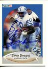 Barry Sanders Autograph Football Cards