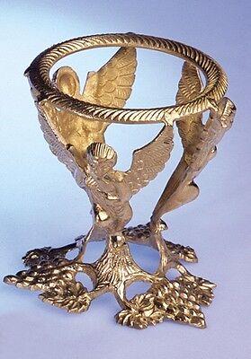 Kristallkugelständer Engel / Kristallkugel-Ständer aus Messing / ca. 13cm hoch