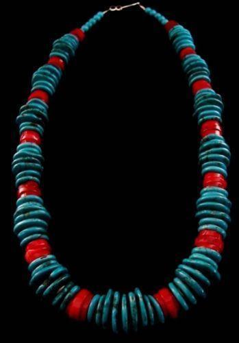 Native American Coral Necklace Ebay
