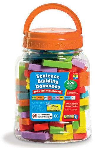 Learning Resources Sentence Building Dominoes - Make 100s of Sentences NEW
