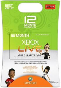 12 Month Xbox Live Gold Subscription Card for AU 360
