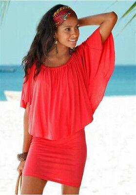 Carmen Kleid Strandkleid Beach time Gr. 44/46 koralle 107010 Neu