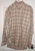 Mens Burberry Button Down Shirt