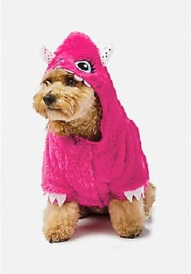 Justice Fuzzy Pink Monster Halloween Dog Costume for Dogs Size Small NEW (Dog Halloween Costumes Monster)