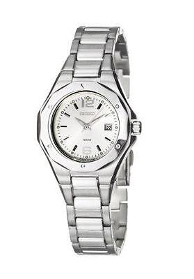 Seiko SXDA17 Stainless Steel Silver Tone Date Dress Women's Watch