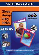 A4 Glossy Card