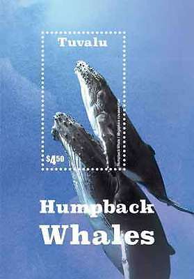 Tuvalu - Humpback whales Souvenir Sheet MNH