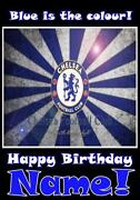 Personalised Chelsea Birthday Card