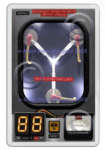 BACK TO THE FUTURE INSPIRED FLUX CAPACITOR NEW JUMBO FRIDGE LOCKER MAGNET
