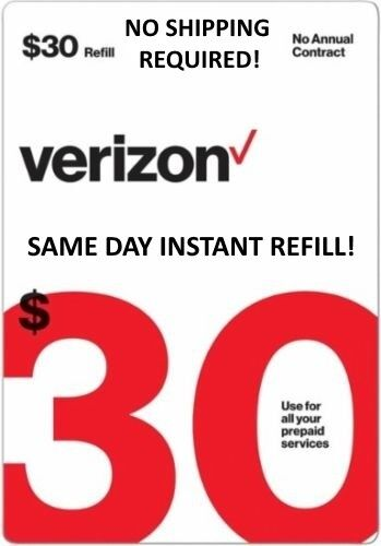 $30 VERIZON Refill DIRECT ELECTRONIC REFILL 🔥 GET IT TODAY 🔥 USA DEALER