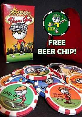 Vegas Golf High Roller Complete Edition - All 14 Chips Poker Chip Golf Game - Vegas Golf Game Poker Chips