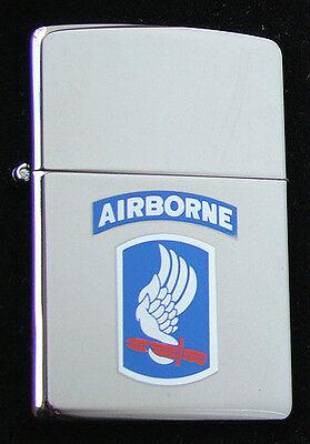 US Army AIRBORNE Zippo MIB Polished Chrome