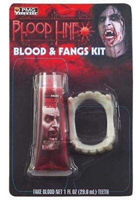 Blood & Fangs Kit for Halloween Costume - Fangs For Halloween