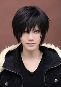 Hight Quality DuRaRaRa Orihara Izaya Wig Black Short Cosplay Wig + Wig Cap