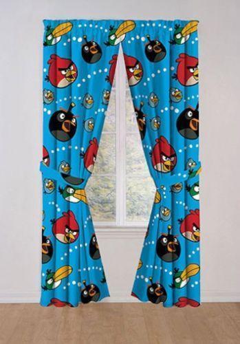 Curtains Ideas curtains birds theme : Angry Birds Curtains | eBay