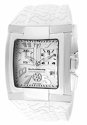 New TechnoMarine Hummer Chronograph White Rubber Strap Watch