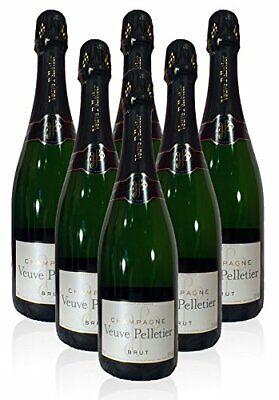 Toller Champagner Veuve Pelletier & Fils Bru,  6 x 0,75l Flaschen
