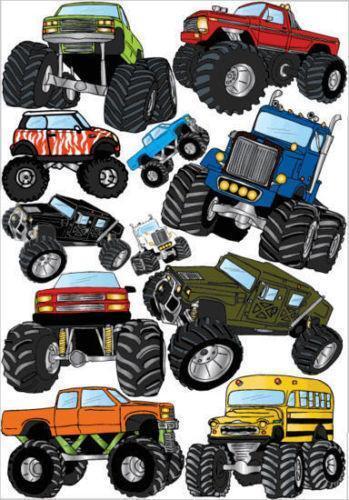 Monster Truck Wall Decals | eBay