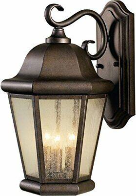 Feiss Martinsville Outdoor Patio Light Wall Lantern, Bronze, -