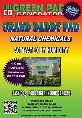 - Green Pad CO2 Generator Grand Daddy Pad Indoor Garden Grow Natural Lawn Plant