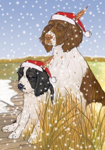 English Springer Spaniel Christmas Cards Set of 10 cards & 10 envelopes