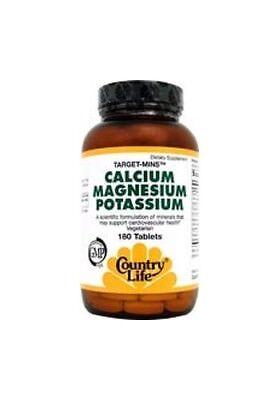 Target Minis Calcium Magnesium Potassium, Country Life, 180 tablet
