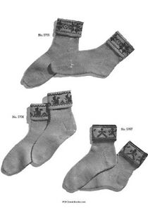 Two-Needle-Socks-Patterns-Jack-Frost-Knitting-Book-Vol-57-Book-on-CD