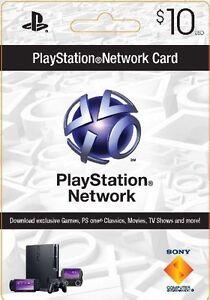 $10 US USA Store PlayStation Network PSN Card/Voucher/Code PS4 PS3 PSP Vita FAST