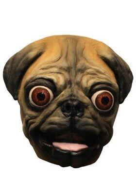 Pug Dog  Adult Latex Mask Funny Vivid Cartoon Anime Cosplay Costume Accessory - Pug Funny Halloween