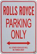 Rolls Royce Sign