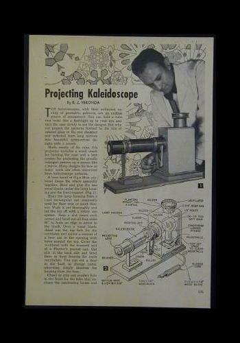 Unique PROJECTING KALEIDOSCOPE 1953 How-To Build PLANS