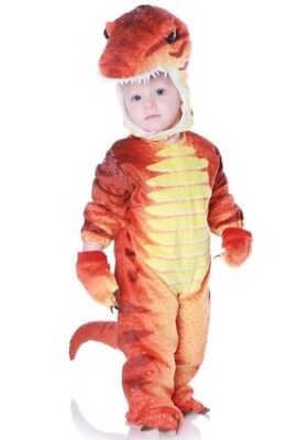 CHILD RED ORANGE T-REX DINOSAUR COSTUME SIZE LARGE 2T-4T (with defect)](Teen Dinosaur Costume)