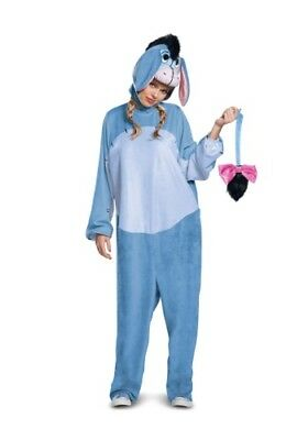 ADULT WINNIE THE POOH EEYORE DELUXE COSTUME SIZE XL (with defect)