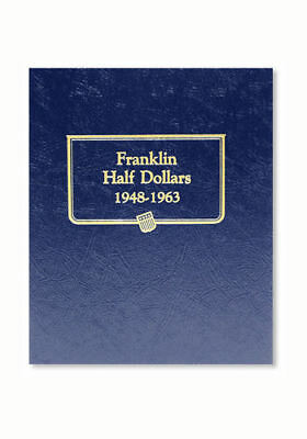 New Whitman OFFICIAL CLASSIC FRANKLIN US HALF DOLLARS 1948 -1963 Album BOOK#9126