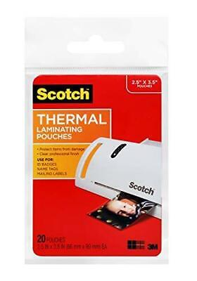 Scotch Thermal Laminating Pouches 2.5 X 3.5-inches Wallet Size 20-pack