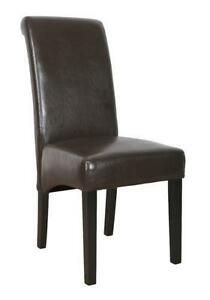 6 leather dining chairs | ebay