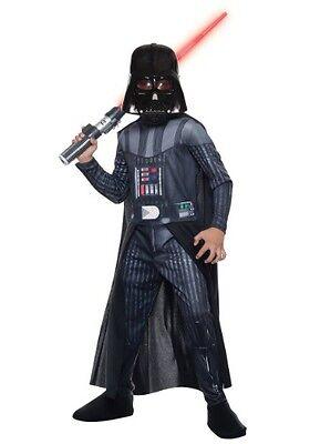 Darth Vader Halloween Costume (Boys Darth Vader Costume Star Wars Halloween S M L Starwars Cape Kids Child)