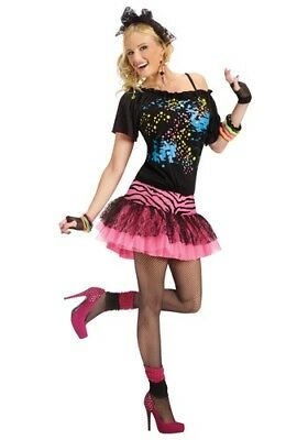 M&m Adult Costumes (ADULT 80S POP PARTY COSTUME SIZE S/M & M/L (MISSING HAIR)