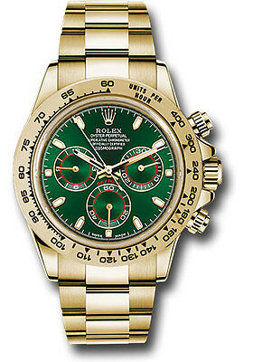 Rolex Cosmograph Daytona Green Dial Yellow Gold Mens Watch 116508 Latest Release