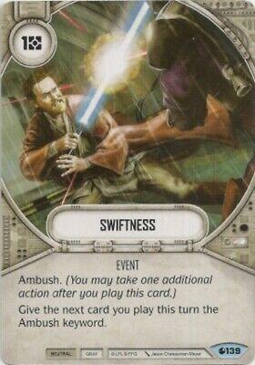 X2 Swiftness 139 Common Star Wars Destiny Spirit Of Rebellion M/NM - $1.40