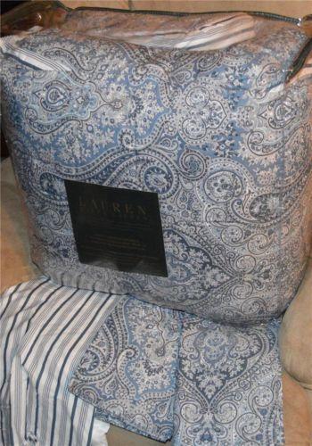 Ralph Lauren Blue Paisley Comforter Ebay