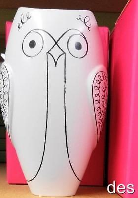 KATE SPADE ~ WOODLAND PARK ~ OWL VASE ~ 8.5