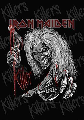 "Iron Maiden Killers Grey LPGI Large Fabric Textile Poster Flag 30"" X 40"""