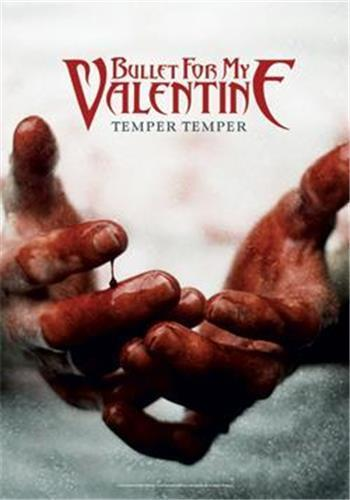 """BULLET FOR MY VALENTINE  Rock flag/ Tapestry/ Fabric Poster """"Temper Temper"""" NEW"""
