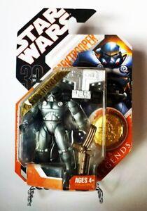 Hasbro Star Wars Saga Legends Dark Trooper Action Figure With Golden Coin MOC - $29.99