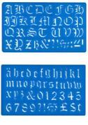 Letter Stencils Old English