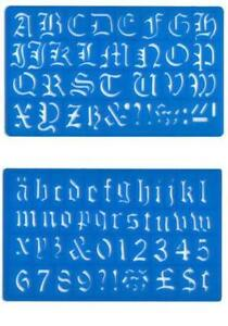 Letter stencils ebay old english letter stencils spiritdancerdesigns Images