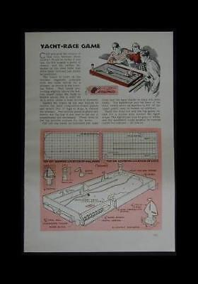 Yacht Race Pinball Marble Game 1945 How-To build PLANS for sale  Shipping to Canada