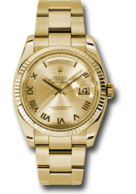 Rolex Day-Date President 36mm 18kt Yellow Gold Oyster Bracelet Champagne 118238